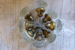 4 Pairs Rare Antique Flower Glass Door Knobs