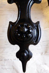 Large Art Nouveau Reclaimed Cast Iron Door Knocker
