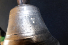 Brass No 7 Servants Bell with Bracket - Mechanical Door Bell