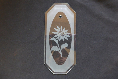 Vintage Flower Etched Glass Door Finger Plate (8 Available)