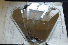 Vintage Smoked Mirror Glass Door Finger Plate (16 Available)
