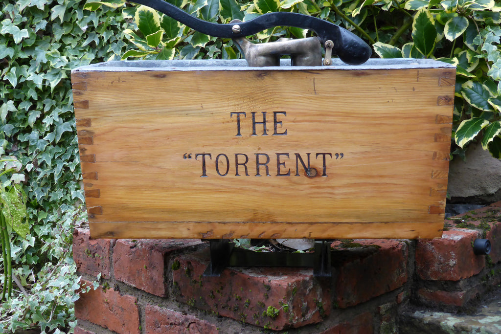 """Torrent"" - Restored Wooden High Level Toilet Cistern"