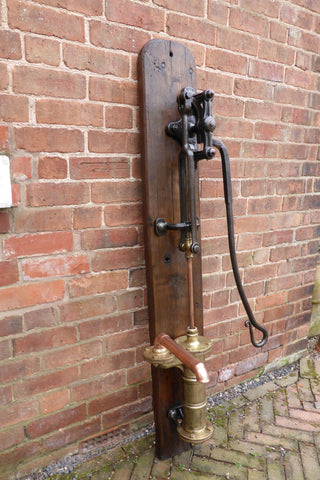 Restored Antique Cast Iron & Brass Working Water Hand Pump