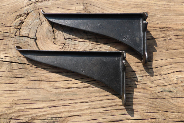 "8"" Reclaimed Industrial Cast Iron Shelf Brackets"