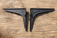 "8 3/4"" Reclaimed Industrial Cast Iron Shelf Brackets"