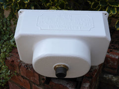 """Rowe Brothers, Birmingham"" - Reclaimed & Restored Victorian Cast Iron High Level Toilet Cistern"