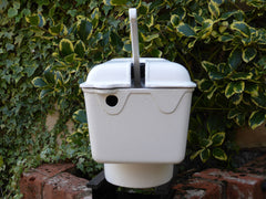 """Clarke & Wyver, Canterbury"" - Restored White Antique Cast Iron High Level Toilet Cistern"