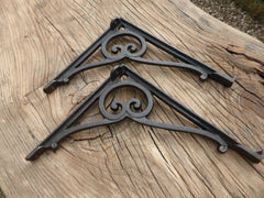 "9"" Antique High Level Cast Iron Toilet Cistern Brackets"