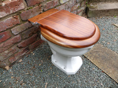 Mahogany High Level Toilet Seat + Lid Professionally Restored