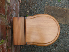 Antique Wooden High Level Toilet Seat + Lid Professionally Restored