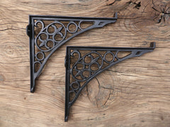 "10"" Antique Ornate High Level Cast Iron Toilet Cistern Brackets"