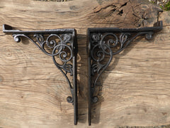 "9 1/2"" Reclaimed High Level Cast Iron Toilet Cistern Brackets"