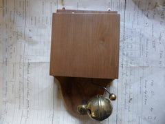 Unusual Wood & Brass Electric Sleigh Doorbell