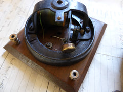 12v Restored 1800s Victorian Wooden & Brass Door Bell