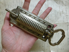 Ornate Silver Plated Mechanical Door Bell Pull