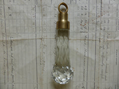 Vintage Cut Glass High Level Toilet Cistern Pull