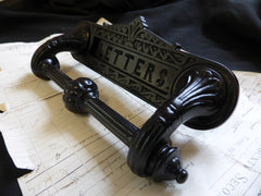 Antique Kenrick Cast Iron Letterbox + Handle