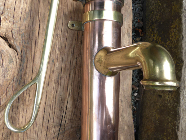 Vintage Dutch Brass And Copper Water Hand Pump Wigo