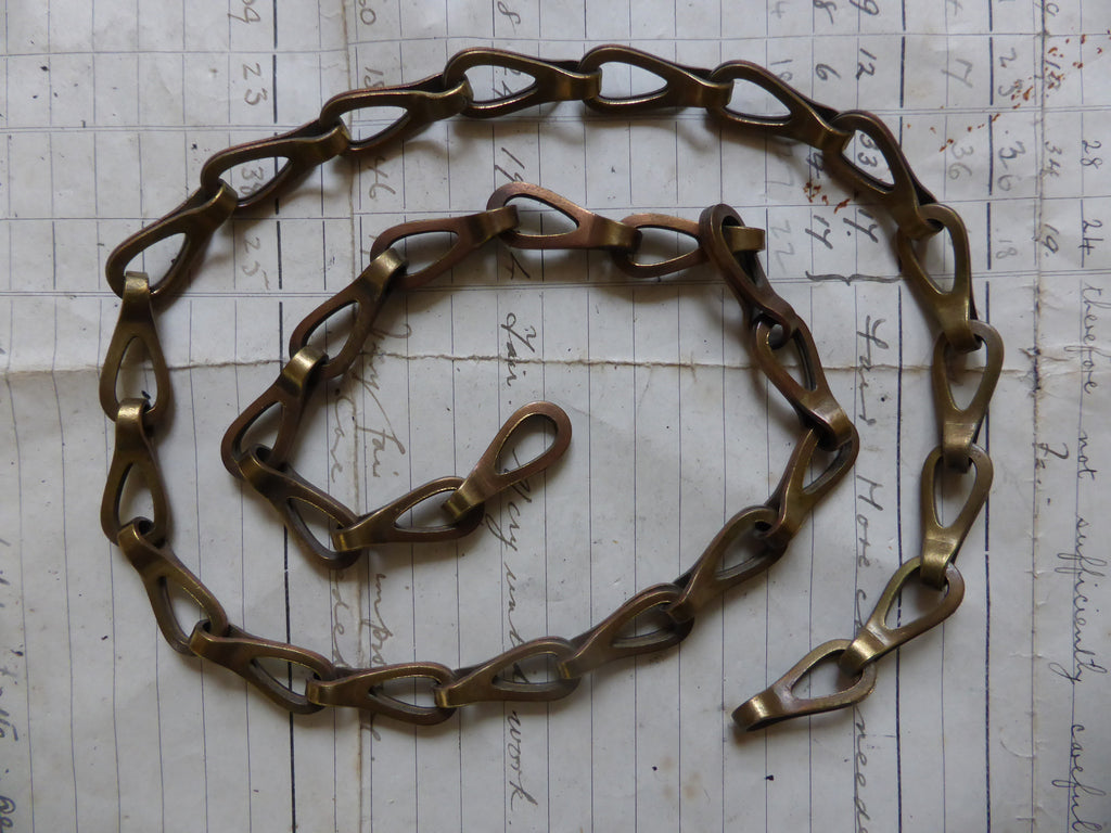 Antique Solid Brass Chain ideal for Toilet or Light pull