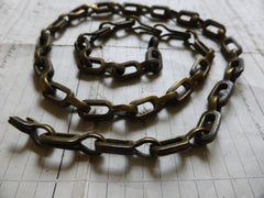 Chunky Antique Solid Brass Chain ideal for Toilet or Light pull