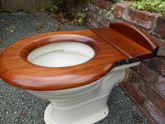 Antique Mahogany High Level Toilet Seat