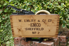 """Emco-Sheffield"" - Restored Wooden High Level Toilet Cistern Brass & Copper"