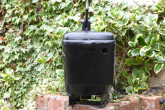 """The Solent"" - Restored Antique Cast Iron Satin Bow Fronted High Level Toilet Cistern"