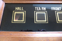 Butlers or Servants Bell Box ~ 4 Point Indicator for Tea Rooms