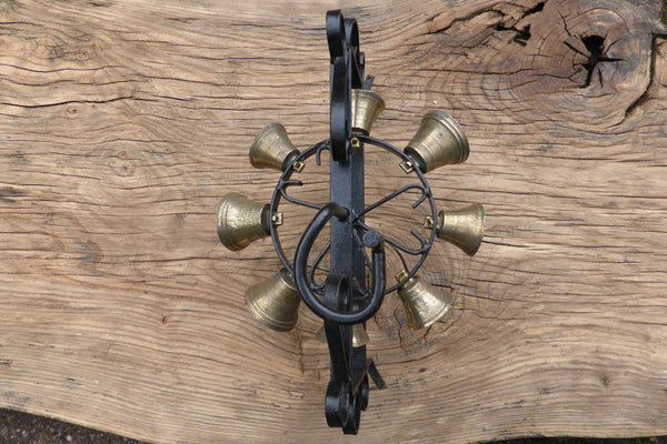Vintage Wrought Iron Revolving Multi Chimes Spanish
