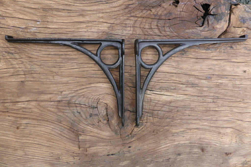 "10"" Antique Industrual High Level Cast Iron Toilet Cistern Brackets"