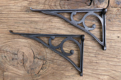 "9 3/4"" Reclaimed High Level Cast Iron Toilet Cistern Brackets - Industrial"