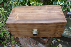 "1906 Restored Wooden High Level Toilet Cistern ""Japkap"" - Oak Stained"