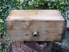 "1906 Restored Wooden High Level Toilet Cistern ""Japkap"" - Rustic Antique Pine"