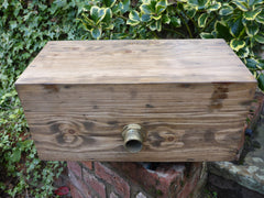 "1906 Restored Wooden High Level Toilet Cistern ""Japkap"" - Medium Oak"