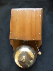 Very Large Restored Art Deco Wood & Brass Electric Doorbell