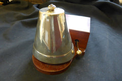 Very Large Restored Antique Wood & Brass Electric Conical Doorbell - Quirky
