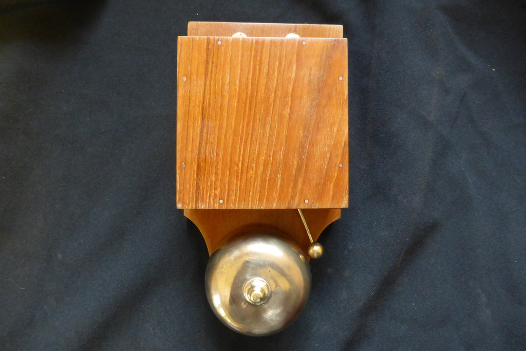 Restored Antique Wood & Brass Electric Doorbell - Brass Tacks