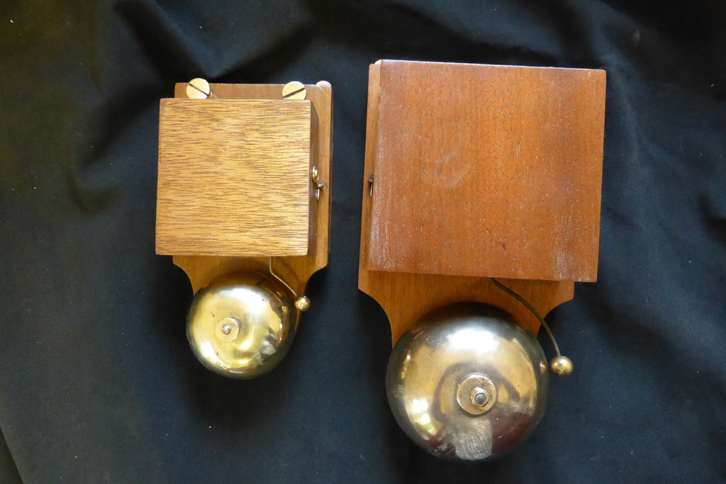 Very Large Restored Antique Wood & Brass Electric Door Bell - 24 volts