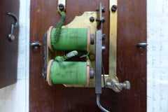 Restored Art Deco Wood & Steel Electric Conical Doorbell - Quirky