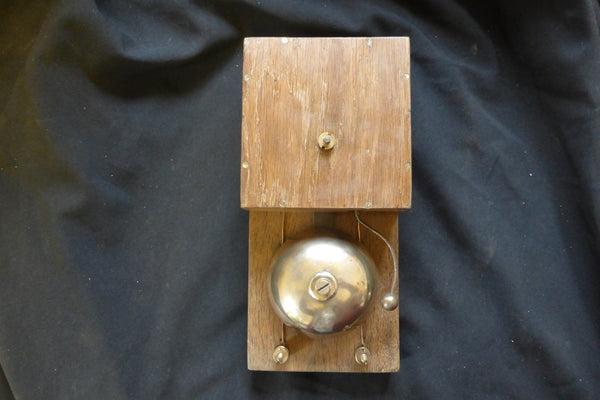 Large Restored Antique Wood Amp Brass Electric Doorbell