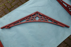 3 Pairs Huge Antique Cast Iron Apex / Roof Brackets - Conservatory, Porch, Greenhouse