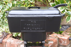 "Reclaimed & Restored Antique Cast Iron High Level Toilet Cistern - ""The Original Burlington"""