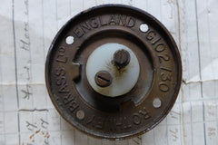 Vintage Copper Electric Door Bell Push - Rothley Brass