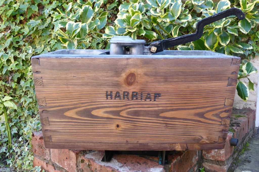 "Restored Wooden High Level Toilet Cistern ""Harriap"" - Rustic Finish"