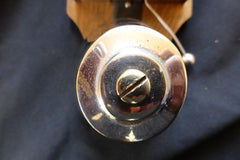 Restored Art Deco Wood & Chromed Brass Electric Conical Doorbell - 3-6 volts