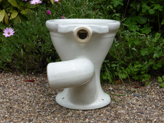 """Ogan"" - Antique High Level Earthenware Toilet"