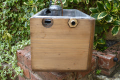 Antique Restored High Level Japkap Toilet Cistern - Rounded Edges