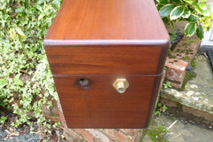 Vintage Restored Semi High Level Japkap Toilet Cistern in Mahogany
