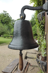 Large Vintage Cast Iron Wall Mounted Bell - Pub, School, Church...