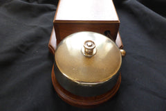 Very Large Restored Brass and Wood Electric Door Bell - 6 Volts